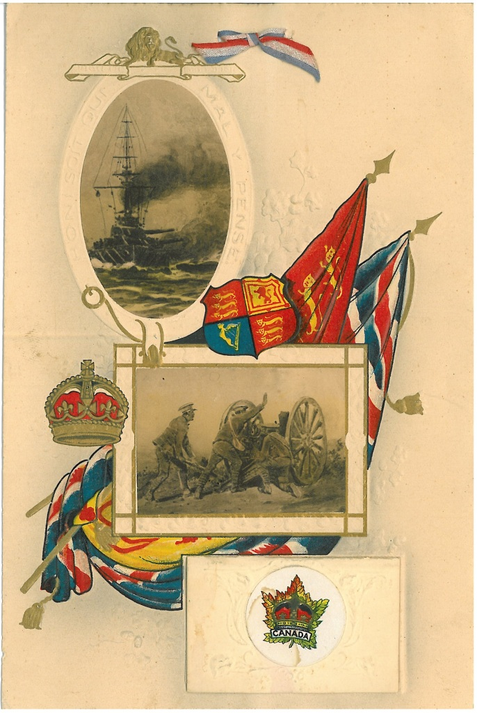 [Regimental Christmas card, unknown battalion]c.1915. Canadian Centre for the Great War