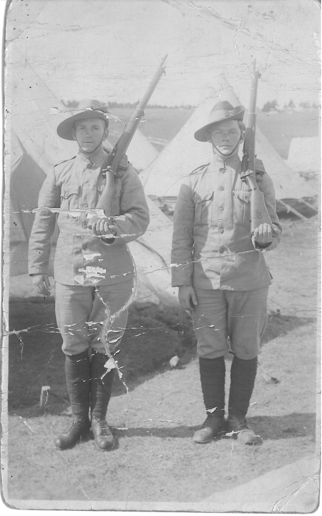 [John Donald Andrews at Pleasantville Camp c1914] Image from the Canadian Centre for the Great War photo archive 2015.02.20.00001