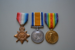Medal trio, named to Captain Oscar Robert Havrvey, Collections CCGW/CCGG