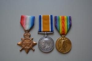 Medal trio, named to Captain Oscar Robert Havrvey, Collections CCGW/CCGG