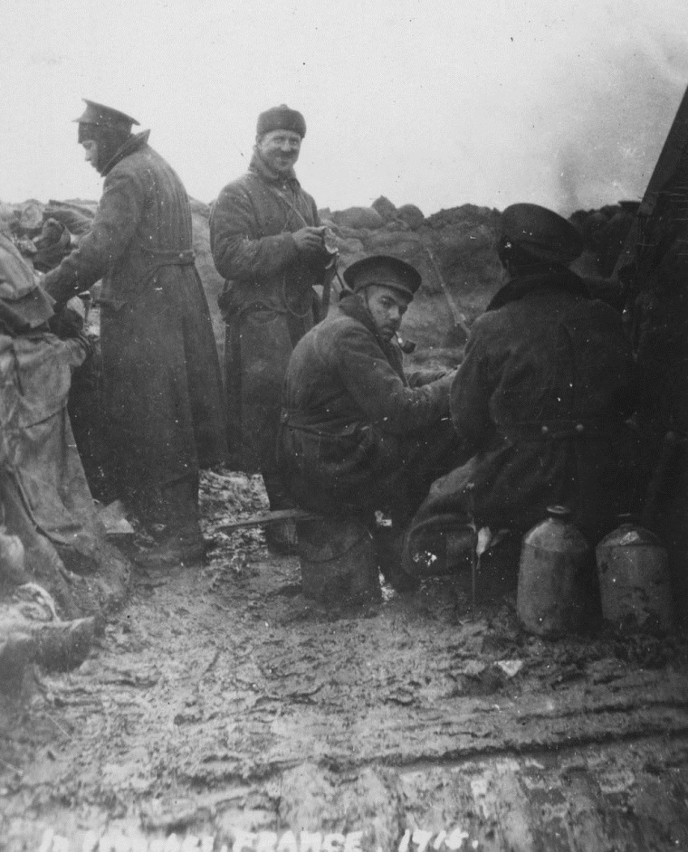 [In trenches, France,1915] Horace Brown/Library and Archives Canada/ PA-107276. Please note that this image has been slightly cropped for this post.