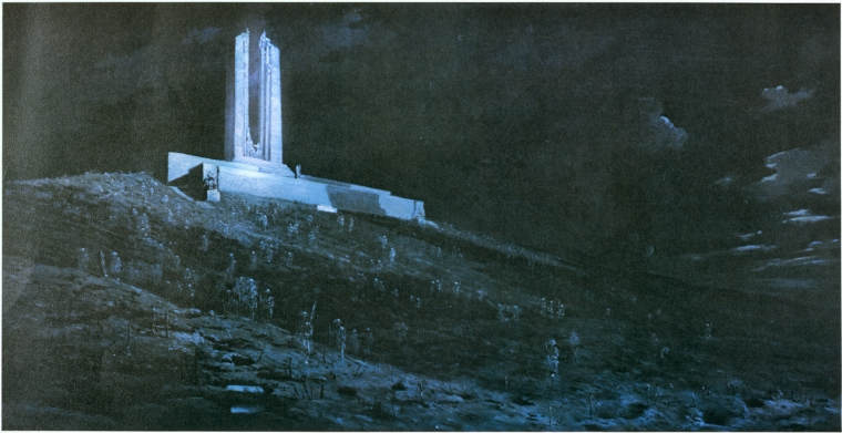 Ghosts of Vimy Ridge, 1931. William Longstaff. Image courtesy Canadian House of Commons Collection.