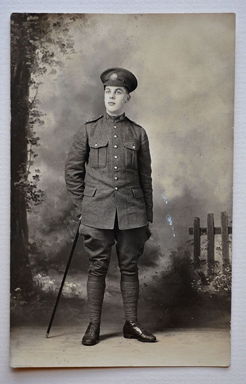 [Pte. Horace Cloyne Vane Drader, No 3 Special Service Battalion] c1915-1916. Collections CCGW/CCGG 2015. 10.07.01