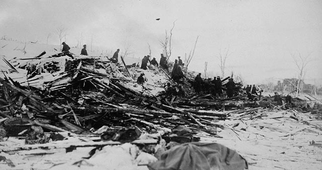 Aftermath of the Halifax Explosion. 6 December 1917. Photo courtesy Bibliothèque et Archives Canada / C-001833