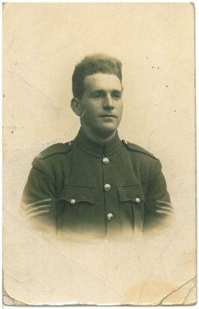 Portrait of John Donald Andrews at Hazeley Down Camp, Winchester, 10 March 1918. Collections CCGW/CCGG 2015.02.20.01