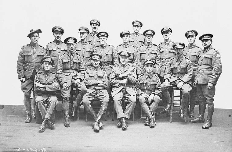 The original Dumbells, out of their costumes. c1917-1919. Courtesy Canada. Dept. of National Defence/Library and Archives Canada/