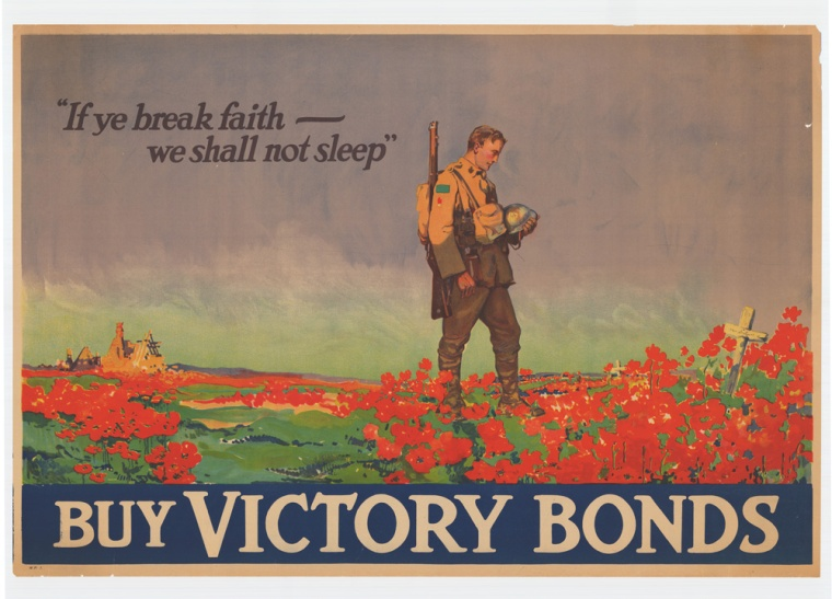 "[Canada] ""If ye break faith"", Frank Lucien Nicolet. [1918]. Courtesy McMaster University Libraries, Identifier: 00001805"