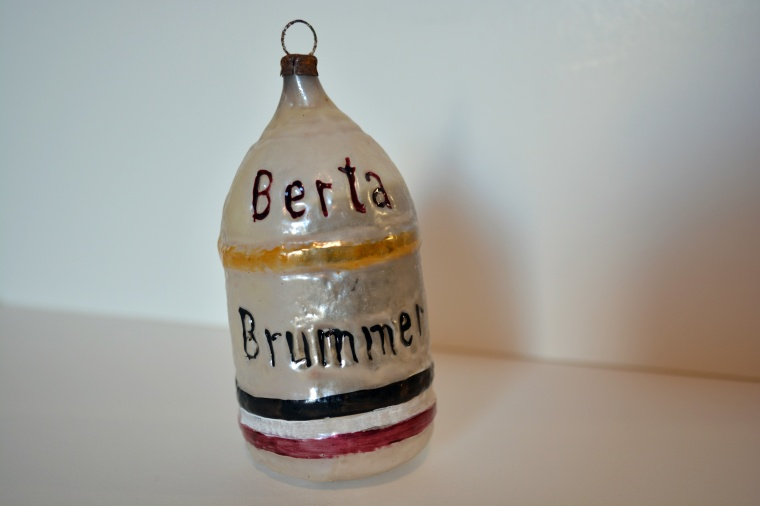 Christmas Ornament Berta Brummer Big Bertha Germany No Date Glass Collections Ccgw Ccgg